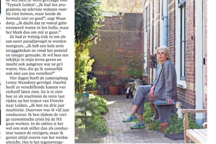 Interview in Leidsch Dagblad