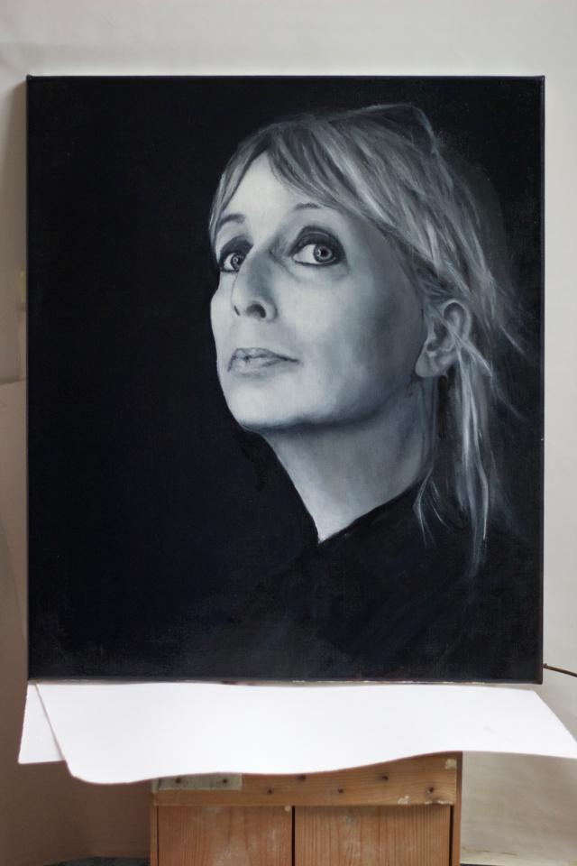 Self Portrait, oil on canvas, 60 x 70 cm
