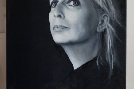 Painted self portrait selected for Weekend van het Portret
