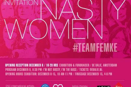 Nasty Women Amsterdam / #teamFemke exhibition and fundraiser